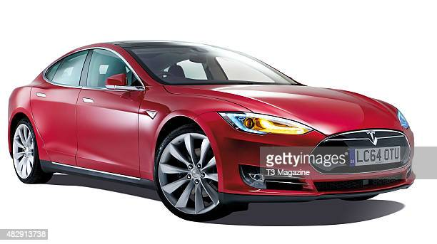 A Tesla Model S electric car taken on January 22 2015
