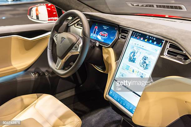Tesla Model S electric luxury interior