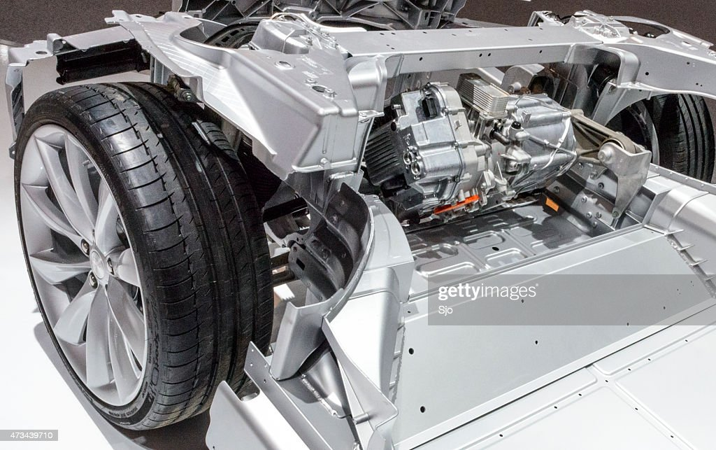 Tesla Model S Full Electric Engine On A Chassis Stock Photo Getty