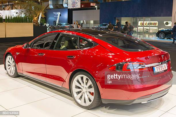 tesla model s full electric luxury car - tesla model s stock photos and pictures