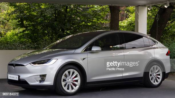 Tesla Model X 2018 edition of Parco Valentino car show hosts cars by many automobile manufacturers and car designers inside Valentino Park