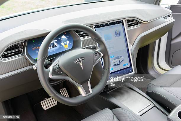 Tesla Model X all-electric crossover SUV interior