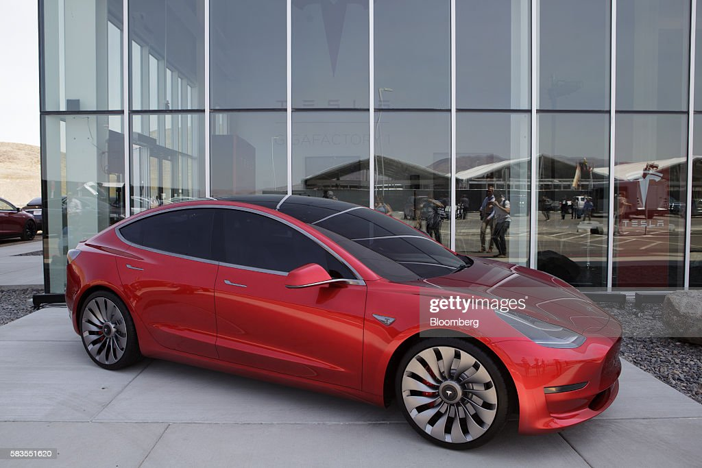 Tour Of Tesla Motors Inc.'s Gigafactory With Remarks By Chief Executive Officer Elon Musk And Co-Founder Jeffrey Straubel : News Photo