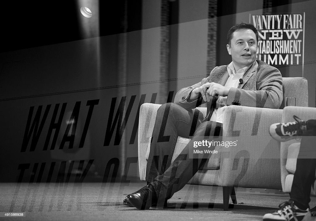 Tesla Motors CEO and Product Architect Elon Musk speaks onstage during 'What Will They Think of Next? Talking About Innovation' at the Vanity Fair New Establishment Summit at Yerba Buena Center for the Arts on October 6, 2015 in San Francisco, California.