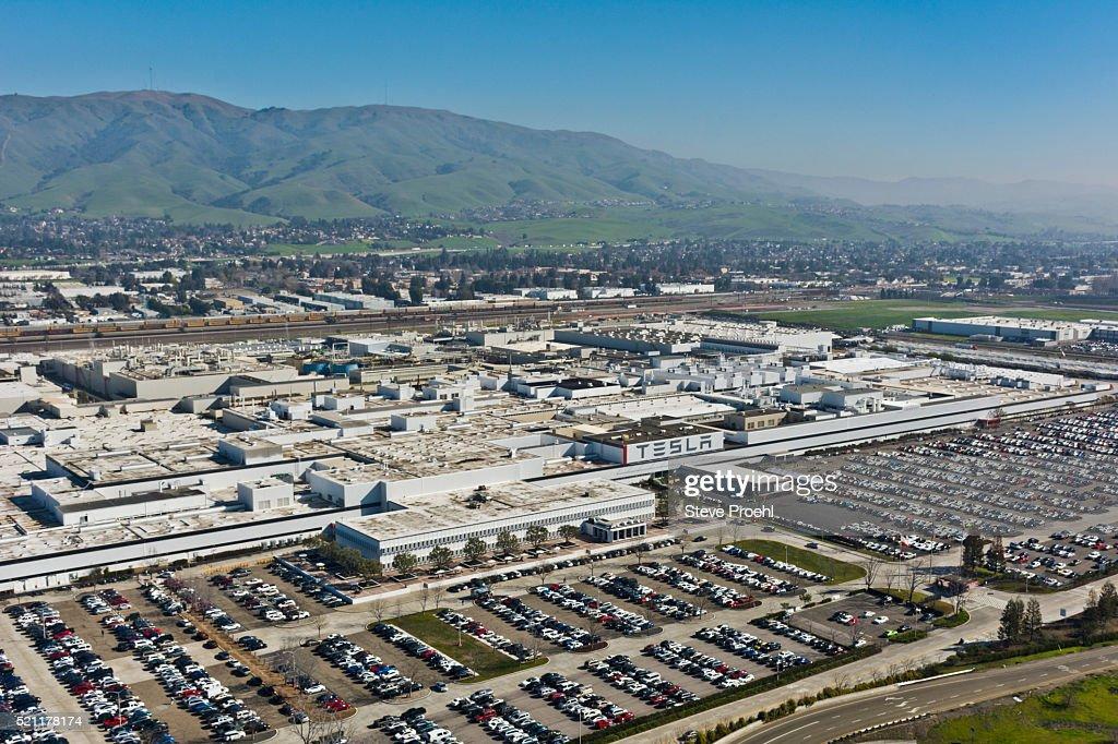 Tesla Motors Factory : Stock Photo