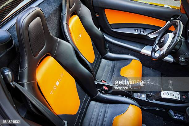 Tesla Roadster Electric Sports Car Interior Seats