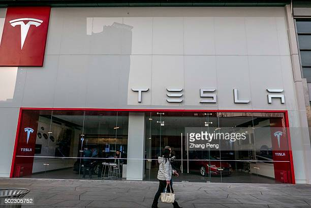 Tesla shop in Beijing CBD Tesla's sales in China appear to be taking off EV sales in China have grown at a tripledigit clip yeartodate China is now...