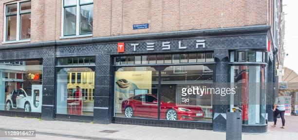 Tesla showroom with Tesla Model S and X electric cars