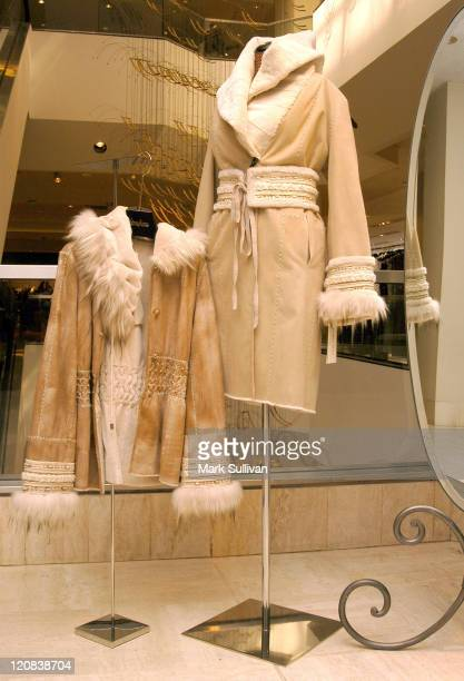 Teso Fur display during Giuliana Teso Appearance and Trunk Sale at Neiman Marcus at Neiman Marcus Beverly Hills in Beverly Hills California United...