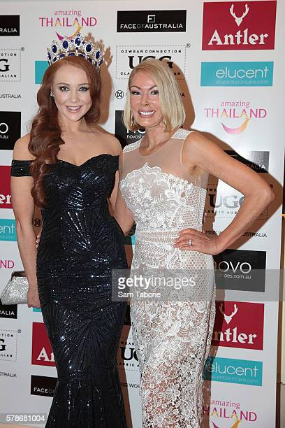 Tess Alexander and Janet Roach during the Miss World Australia 2016 National Final at Crown Palladium on July 22 2016 in Melbourne Australia