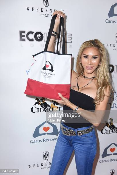 Tess Broussard attends the EcoLuxe PreAwards Party on September 15 2017 in Beverly Hills California