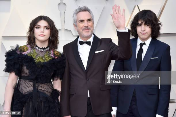 Tess Bu Cuaron Alfonso Cuaron and Olmo Teodoro Cuaron attend the 91st Annual Academy Awards at Hollywood and Highland on February 24 2019 in...