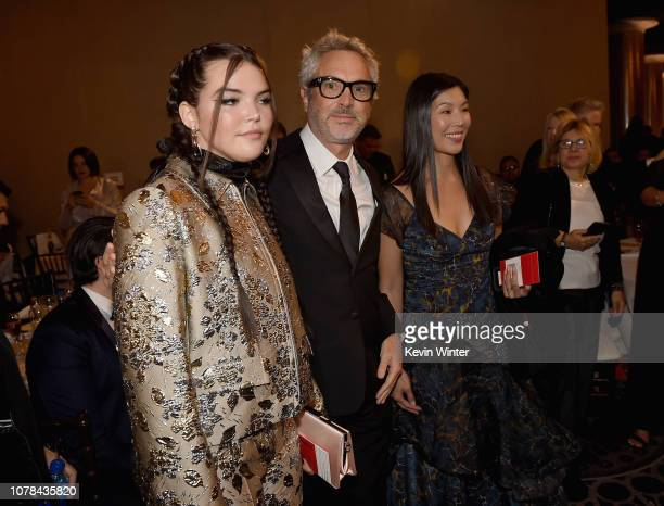 Tess Bu Cuaron and Alfonso Cuaron attend the 76th Annual Golden Globe Awards at The Beverly Hilton Hotel on January 6 2019 in Beverly Hills California