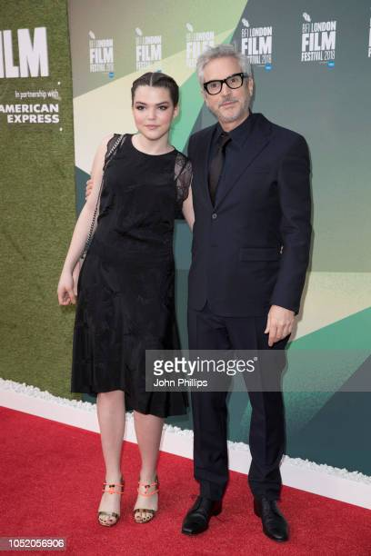 Tess Bu Cuaron and Alfonso Cuaron attend the UK Premiere of Roma and Journey Gala at the 62nd BFI London Film Festival on October 13 2018 in London...
