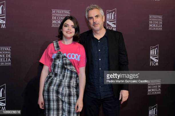 Tess Bu Cuaron and Alfonzo Cuaron pose during the red carpet of Netflix film 'Roma' directed by Alfonso Cuaron as part of Festival Internacional de...
