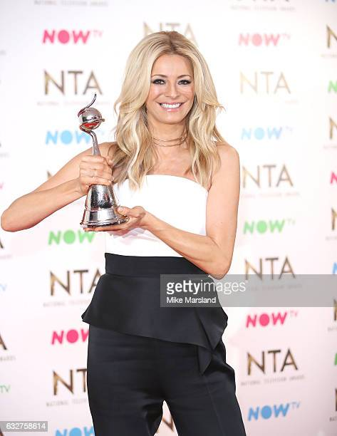 Tess Daily poses in the winners room at the National Television Awards at The O2 Arena on January 25 2017 in London England