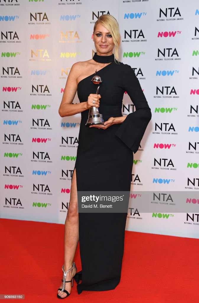 Tess Daly, accepting the Best Talent Show award for 'Strictly Come Dancing', poses in the press room at the National Television Awards 2018 at The O2 Arena on January 23, 2018 in London, England.