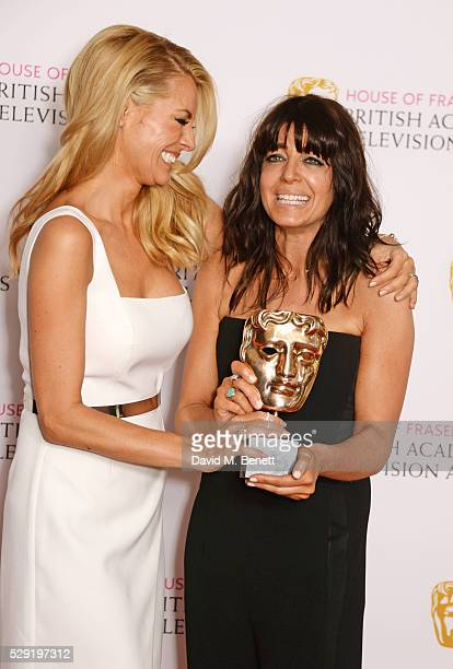 Tess Daly and Claudia Winkleman accepting the Best Entertainment Programme award for 'Strictly Come Dancing' poses in the winners room at the House...