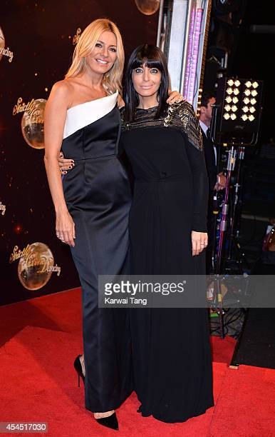Tess Daly and Claudia Winkleman attend the red carpet launch for Strictly Come Dancing 2014 at Elstree Studios on September 2 2014 in Borehamwood...