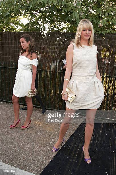 Tess Daly and Jade Jagger arrives at The Serpentine Gallery Summer Party on July 11 2007 in London England