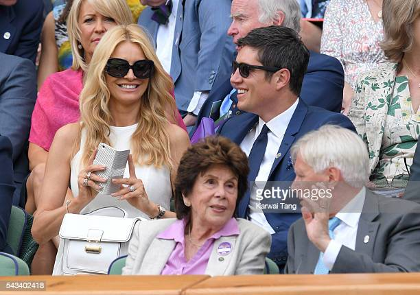 Tess Daly and Vernon Kay attend day two of the Wimbledon Tennis Championships at Wimbledon on June 28 2016 in London England