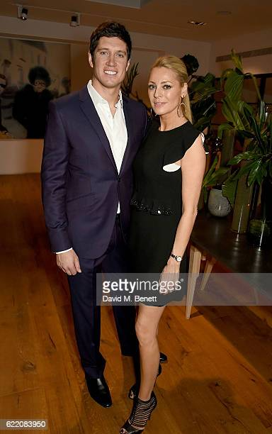 Tess Daly and Vernon Kay attend the anniversary party for Kelly Hoppen MBE celebrating 40 years as an Interior Designer, at Alva Studios on November...