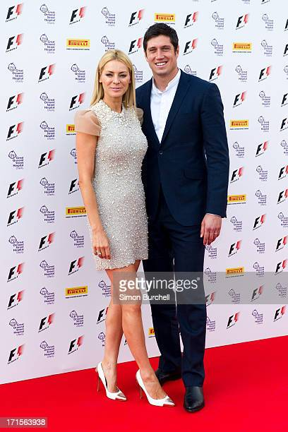 Tess Daly and Vernon Kay attends The F1 Party at Old Billingsgate Market on June 26 2013 in London England
