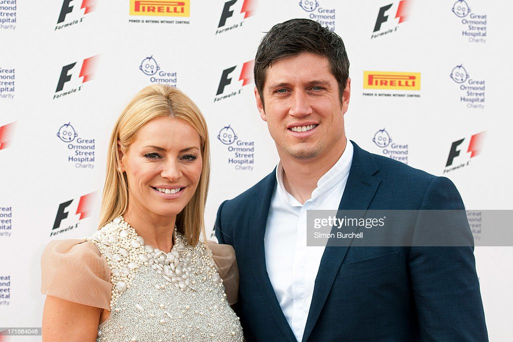 Tess Daly and Vernon Kay attends The F1 Party at Old Billingsgate Market on June 26, 2013 in London, England.