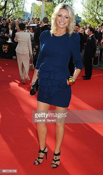 Tess Daly arrives at the BAFTA Television Awards 2009 at the Royal Festival Hall on April 26 2009 in London England
