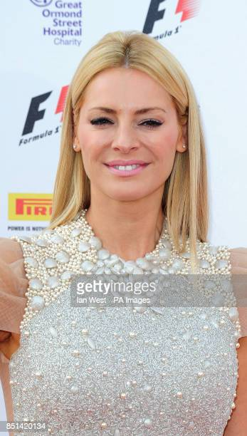 Tess Daly arrives at the F1 Party in aid of Great Ormond Street Hospital Children's charity The party marks the official launch of the Formula 1...