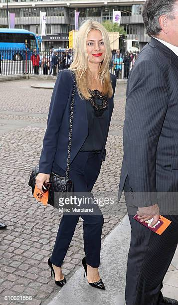 Tess Daly attends a memorial service for the late Sir Terry Wogan at Westminster Abbey on September 27 2016 in London England