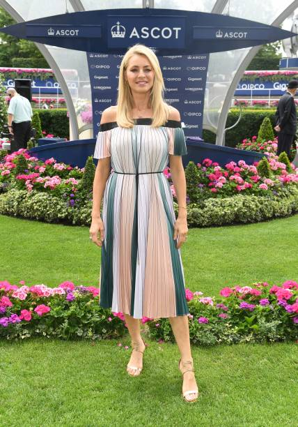 GBR: Tess Daly Attends Ascot Races