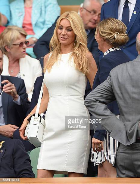 Tess Daly attends day two of the Wimbledon Tennis Championships at Wimbledon on June 28 2016 in London England