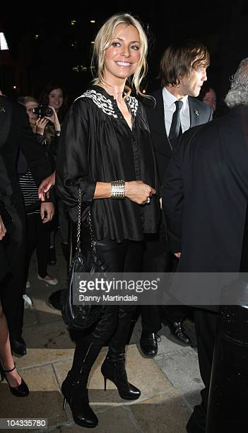 Tess Daly attends Kate Moss Longchamp London Fashion Week party at Longchamp on September 21 2010 in London England