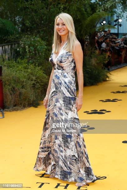 Tess Daly attends the European Premiere of The Lion King at Odeon Luxe Leicester Square on July 14 2019 in London England