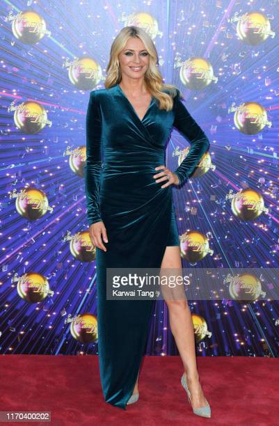 Tess Daly attends the Strictly Come Dancing launch show red carpet arrivals at Television Centre on August 26 2019 in London England