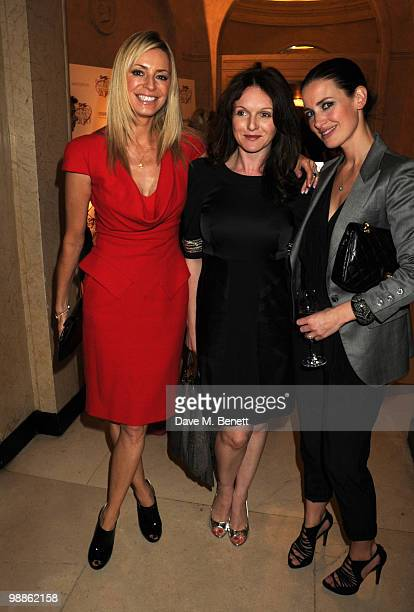 Tess Daly Dervla Kirwan and Kirsty Gallacher attend the SHE Inspiring Women Awards at Claridges Hotel on May 5 2010 in London England