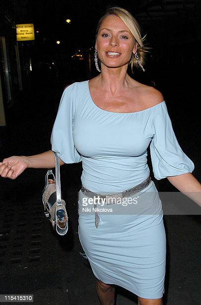 Tess Daly during Celebrity Sightings at J Sheekey's Restaurant in London August 23 2005 at J Sheekey's Restaurant in London Great Britain