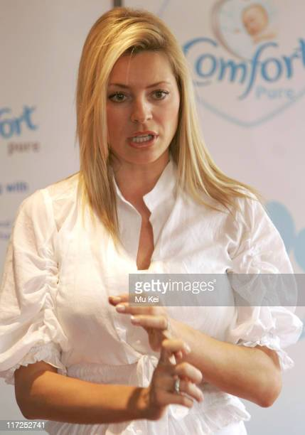 Tess Daly during Comfort Pure and Tess Daly Search for the Most Comfortable Baby Clothes April 21 2006 at Ogilvy 10 Cabot Square in London Great...