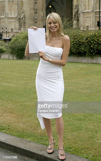 Tess Daly during National Television Award Vote Launch at Houses Of Parliament in London Great Britain