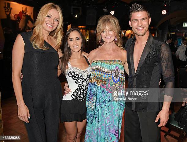 Tess Daly Janette Manrara Goldie Hawn and Aljaz Skorjanec attend 'Goldie's LoveIn For The Kids' the 4th annual Hawn Foundation UK fundraising dinner...
