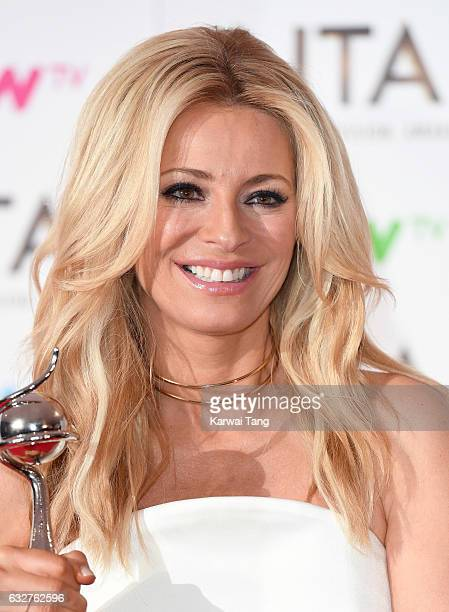 Tess Daly poses in the winners room at the National Television Awards at The O2 Arena on January 25 2017 in London England