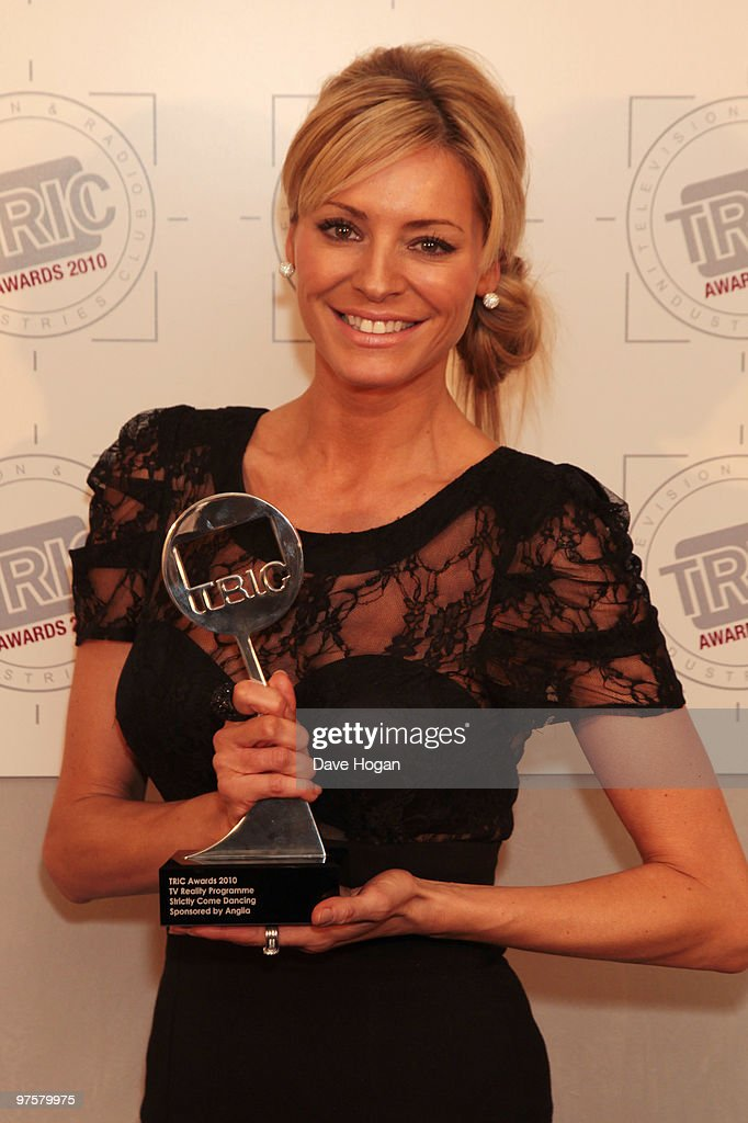 Tess Daly poses with the best reality programme for Strictly Come Dancing in the press room at the TRIC Awards 2010 held at The Grosvenor House Hotel on March 9, 2010 in London, England.