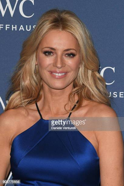 Tess Daly walks the red carpet for IWC Schaffhausen at SIHH 2018 on January 16 2018 in Geneva Switzerland