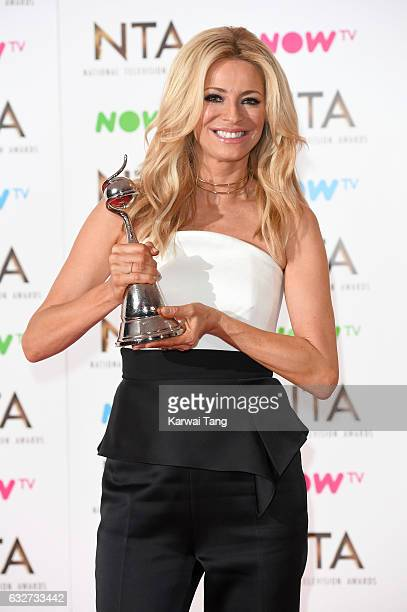 Tess Daly with the best Talent Show Award for 'Strictly Come Dancing' poses in the winners room at the National Television Awards at The O2 Arena on...