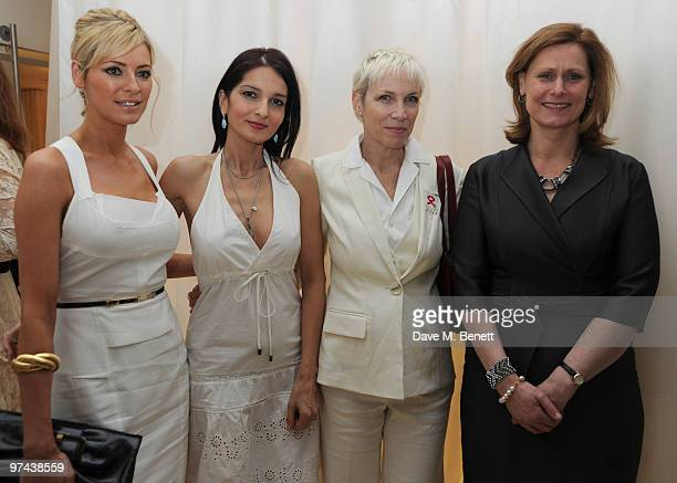 Tess Daly Yasmin Mills Annie Lennox and Sarah Brown attend the private dinner for the White Ribbon Alliance's Global Dinner Party Campaign at Agua in...