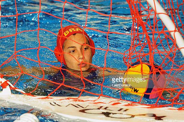 Tess de Oliveira of Brazil during the Women's Waterpolo bronze medal final match in the 2011 XVI Pan American Games at Scotiabank Aquatic Center on...