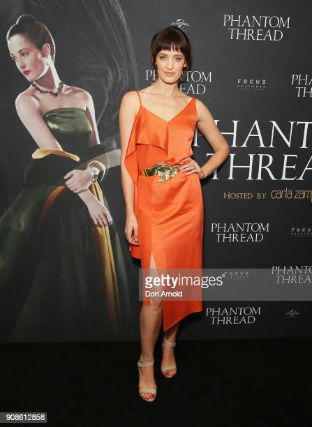 Tess Haubrich attends an exclusive screening of 'Phantom Thread' on January 22 2018 in Sydney Australia