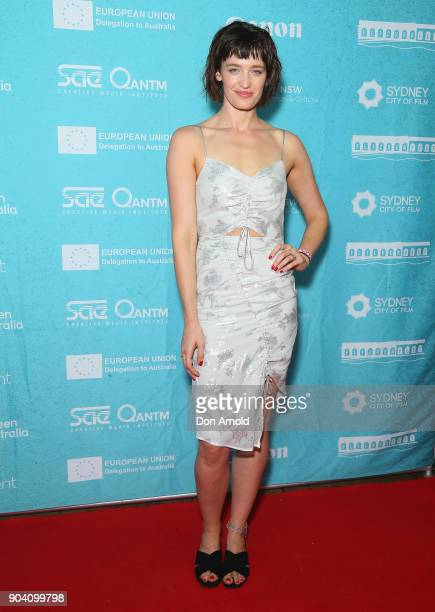 Tess Haubrich attends the Flickerfest International Short Film Festival Opening Night at Bondi Beach on January 12 2018 in Sydney Australia