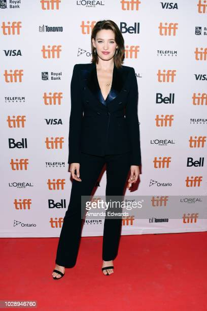 Tess Haubrich attends the Nekrotronic premiere during 2018 Toronto International Film Festival at Ryerson Theatre on September 7 2018 in Toronto...
